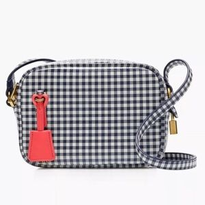 J.Crew Blue Gingham Mini Crossbody